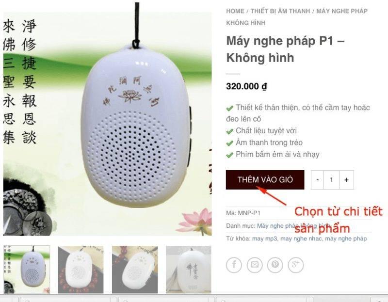 Cho san pham tu chi tiet