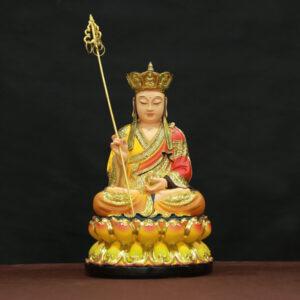 tượng địa tạng bồ tát composite viền vàng 30cm
