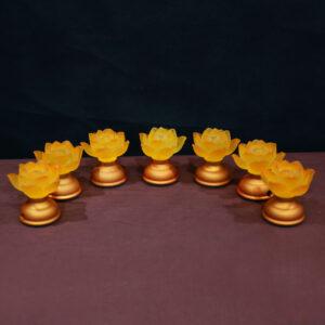 đèn thờ hoa sen dược sư thủy lưu ly 8cm